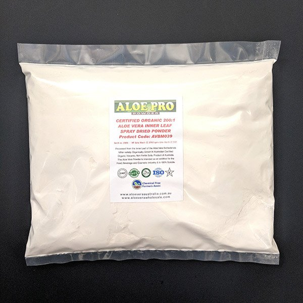 1KG Organic Aloe Vera Powder 200:1 (For further manufacturing)