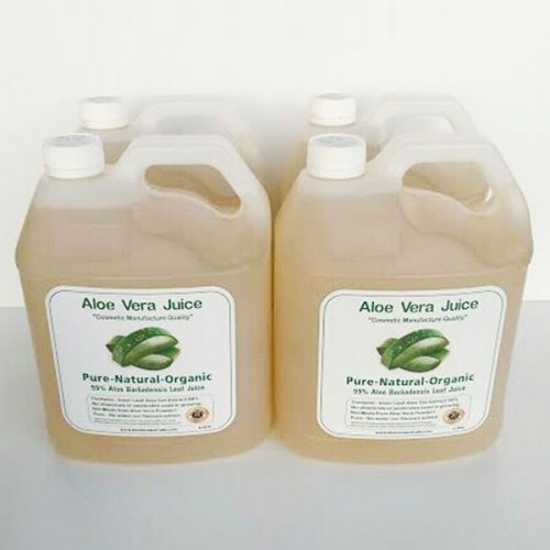 4 x 4 Litre Cosmetic Manufacture Aloe Juice