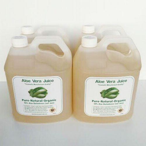 4 x 4 Litre Cosmetic Manufacture Aloe Juice