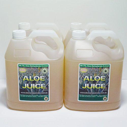 4 x 4 Litre Organic Aloe Juice (Micropulp)