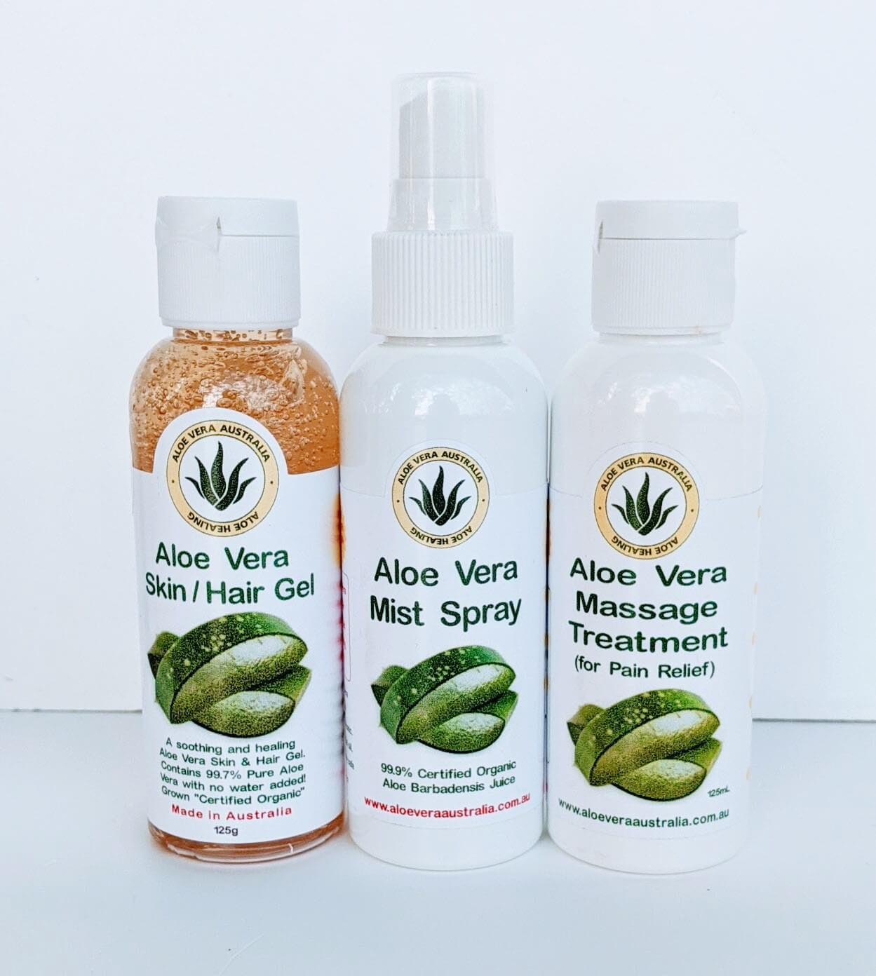 Aloe Skin Hair Gel – Aloe Mist Spray – Aloe Massage Treatment