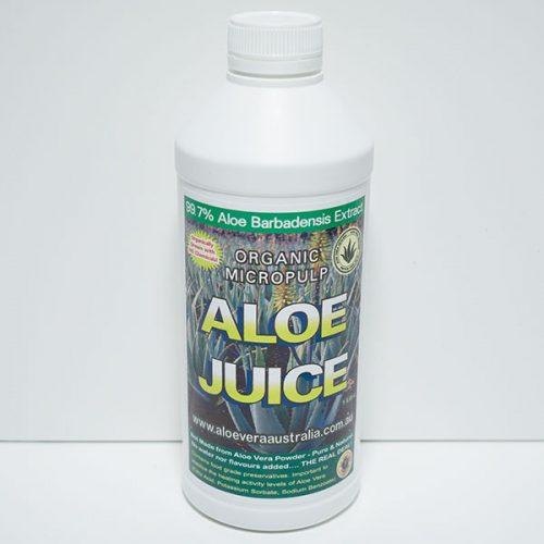 1 Litre Organic Aloe Juice (Micropulp)