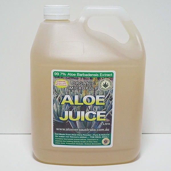 4 Litre Organic Aloe Juice (Micropulp)