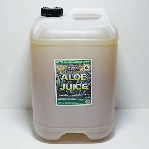 25 Litre Organic Aloe Juice (Micropulp)
