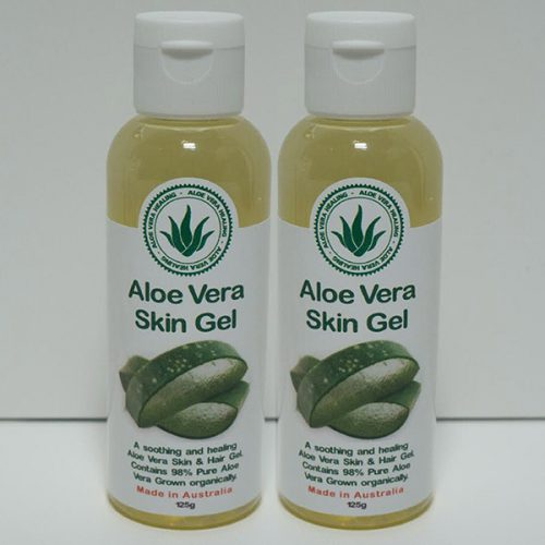 2 x 125g Aloe Skin / Hair Gel 99% Pure Natural Gel