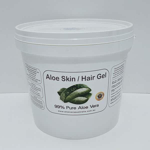5KG Bulk Aloe Vera Skin / Hair Gel 99% PURE (GOLDEN)