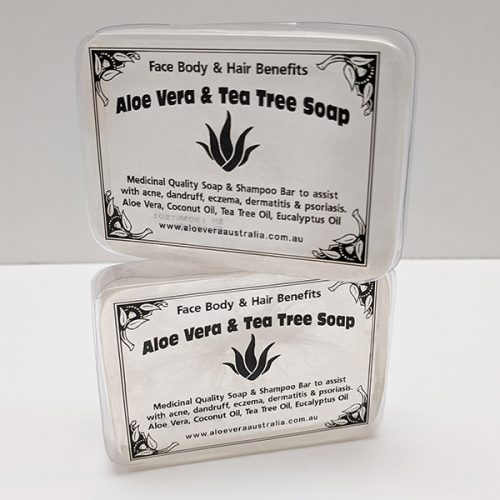 Aloe Vera with Tea Tree Soap. Pack of 2