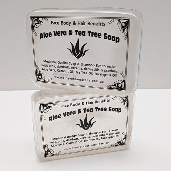Aloe Vera with Tea Tree Soap. Pack of 2