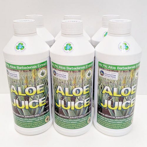 Organic Aloe vera Juice 6 Pack