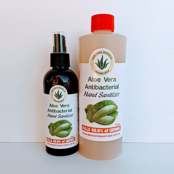 Twin Pack Aloe Vera Antibacterial Hand Sanitizer (with 500ml Refill)